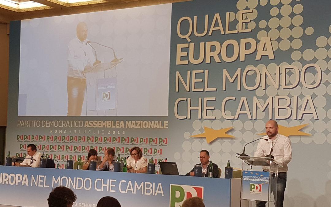 """VIDEO e FOTO – Intervento Assemblea naz. PD M.Rocco e relativo articolo su """"la Repubblica"""""""