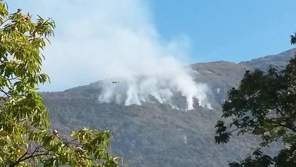 Incendio Monte Terminio in località Sambuco. REPORTAGE www.irpiniaoggi.it