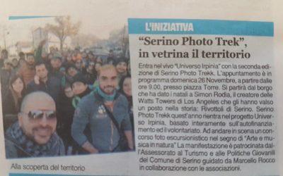 """Universo Irpinia e Serino Photo Trekk su """"Il Quotidiano del Sud"""" – FOTO"""