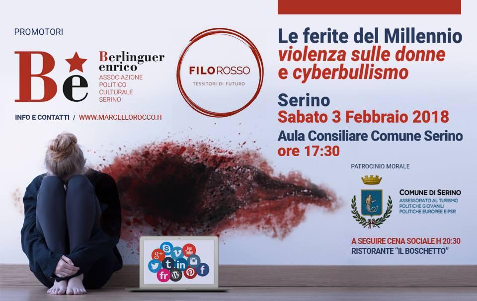 """""""Be"""" e """"Filo Rosso"""" insieme per """"Le ferite del millennio: violenza sulle donne e cyberbullismo"""" – RASSEGNA STAMPA"""