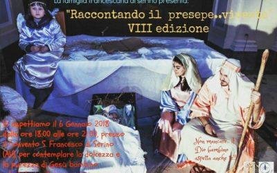 """Al via l'VIII edizione di """"Raccontando il Presepe..vivente"""" presso il Convento Francescano di Serino – RASSEGNA STAMPA"""