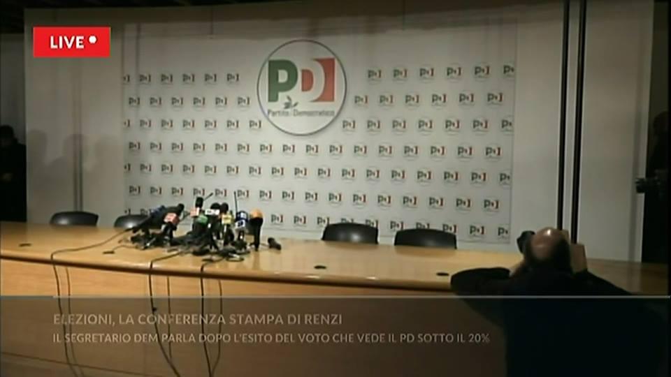 Le ennesime finte dimissioni di Renzi all'insegna della mancanza di umiltà e dignità