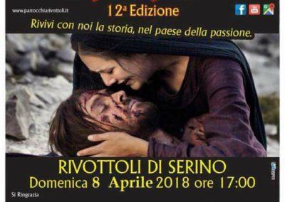 Locandina la Passione di Cristo XII Edizione - Serino 2018