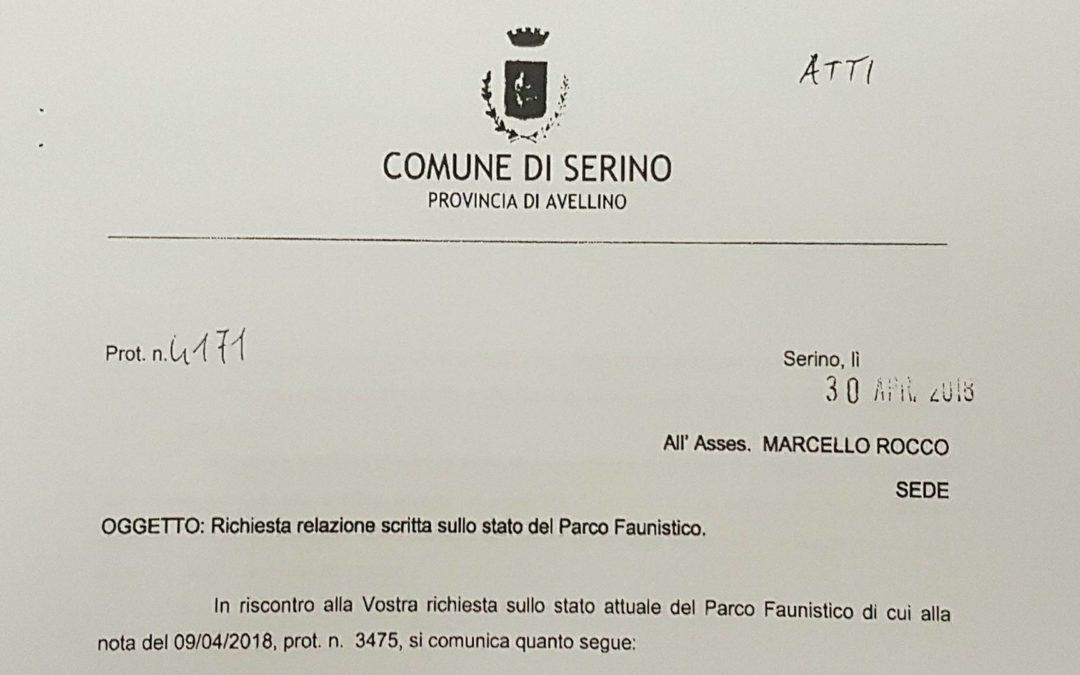 """Relazione Ufficio Tecnico sullo stato del """"Parco Faunistico"""" di Serino – FOTO & PLANIMETRIA"""