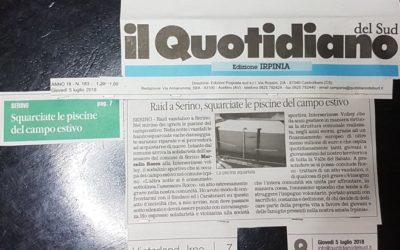"""Vicinanza all'Interserinese Volley a seguito del raid vandalico presso la tendostruttura """"A. Vassallo"""" – VIDEO ITV & RASSEGNA STAMPA"""