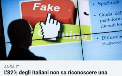 L'82% degli italiani non sa riconoscere una fake news – REPORTAGE DI ANSA.IT