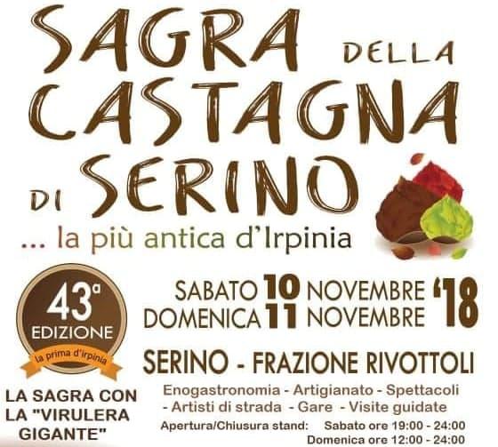Sagra della Castagna di Serino 2018, 43° Edizione