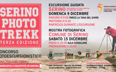 Causa allerta meteo posticipata la 3° edizione di Serino Photo Trekk a domenica 9 Dicembre – RASSEGNA STAMPA, REGOLAMENTO & MENU' CONVENZIONATO