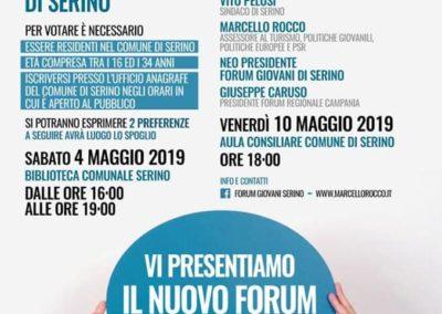 01 - Locandina - formato WEB - Vi Presentiamo il nuovo Forum dei Giovani di Serino Maggio 2019