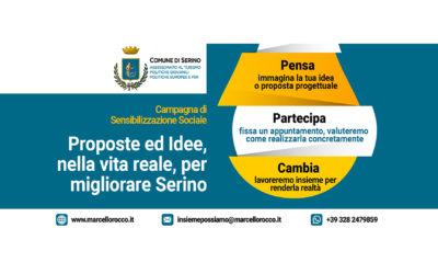 """Al via la campagna di sensibilizzazione sociale: """"Pensa, Partecipa, Cambia! Proposte ed idee per migliorare Serino"""" – LOCANDINA & RASSEGNA STAMPA"""