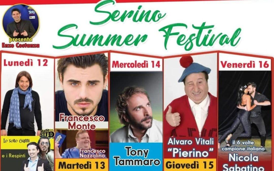 """Grandi eventi in Campania. In scena il """"Serino Summer Festival"""" dal 12 al 16 Agosto – FOTO, SPOT VIDEO & RASSEGNA STAMPA"""