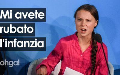 """Greta Thunberg al vertice ONU: """"Avete rubato i miei sogni e la mia infanzia"""" – VIDEO & APPROFONDIMENTO"""