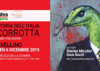 Immagine copertina - Storia dell Italia Corrotta di Isaia Sales - presentazione libro 06-12-2019