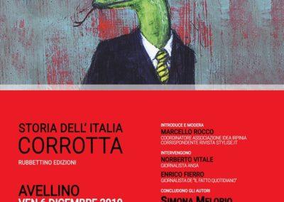 Locandina - Formato WEB - Storia dell Italia Corrotta di Isaia Sales - presentazione libro 06-12-2019