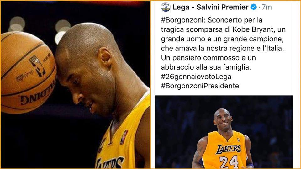 Morte di Kobe Bryant. Sciacallaggio della LEGA atto squallido ed inaccettabile – APPROFONDIMENTO