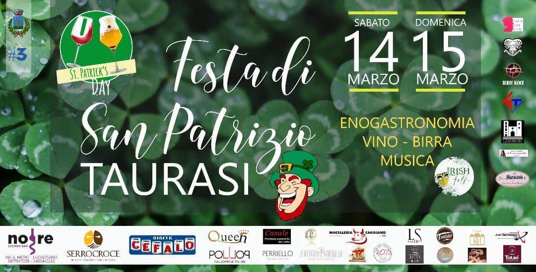 """A Taurasi, il 14 e 15 Marzo, la 1° edizione del """"Saint Patrick's Day"""" – PROGRAMMA"""