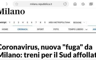 """Coronavirus, nuova """"fuga"""" da Milano: treni per il Sud affollati – APPROFONDIMENTO"""