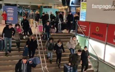 """Coronavorus, presa d'assalto la stazione di Milano. Centinaia di persone in """"fuga"""" dalla Lombardia – VIDEO & APPROFONDIMENTO"""