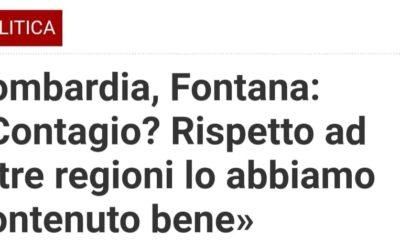 Le parole di Fontana sulla gestione coronavirus, in Lombardia, sono vergognose oltre che grottesche – APPROFONDIMENTI & VIDEO