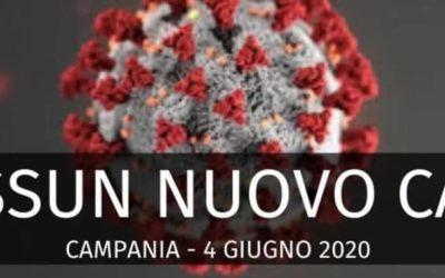 Coronavirus, 0 casi in Campania. Bollettino del 4 Giugno 2020
