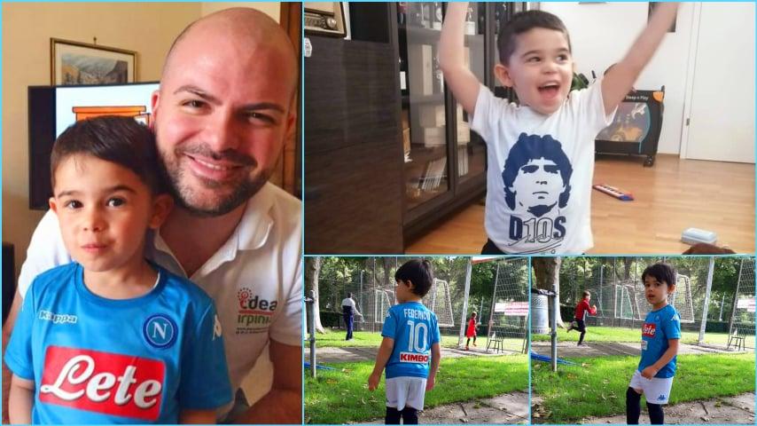Caro nipotino la vittoria della Coppa Italia, da parte del Napoli, la dedico a te – FOTO