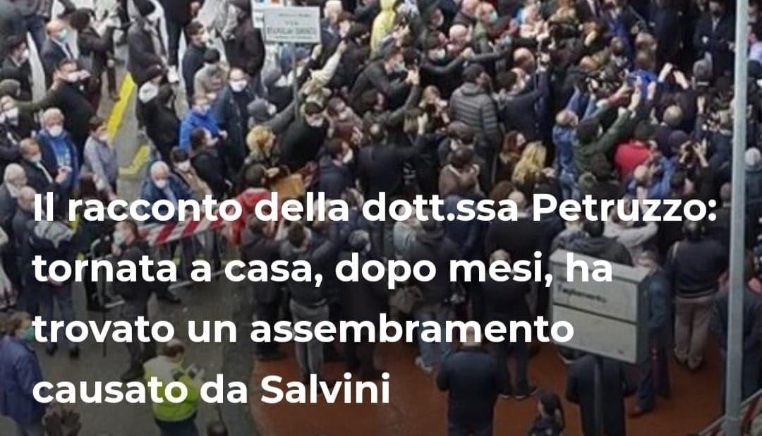 Il racconto della dott.ssa Petruzzo: tornata a casa, dopo mesi, ha trovato un assembramento causato da Salvini – INTERVISTA realizzata per stylise.it – FOTO &VIDEO