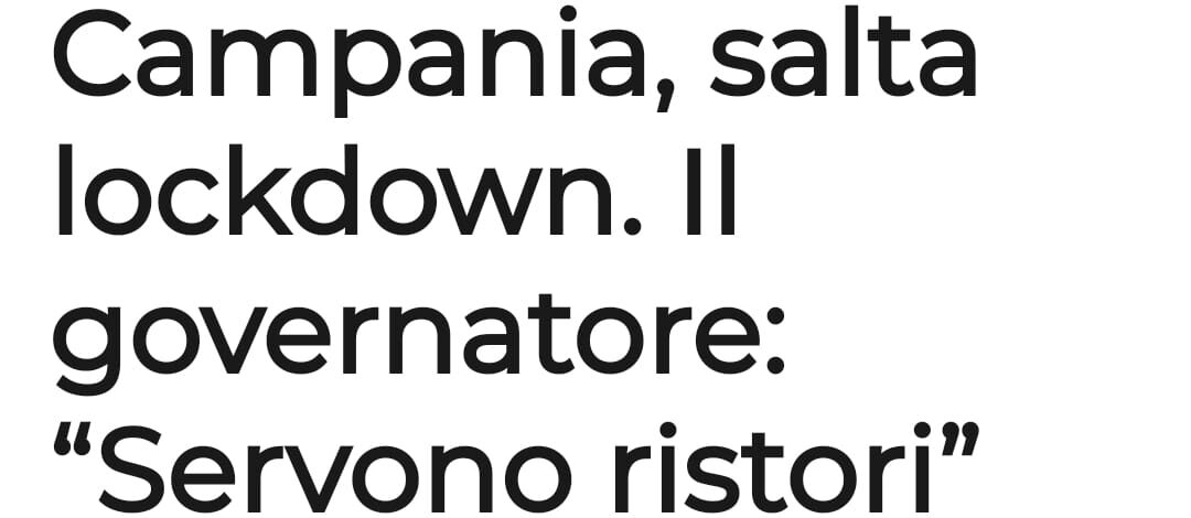 Coronavirus: De Luca fa dietrofront sul lockdown in Campania. Comportamento irresponsabile, pericoloso e vile! – APPROFONDIMENTO