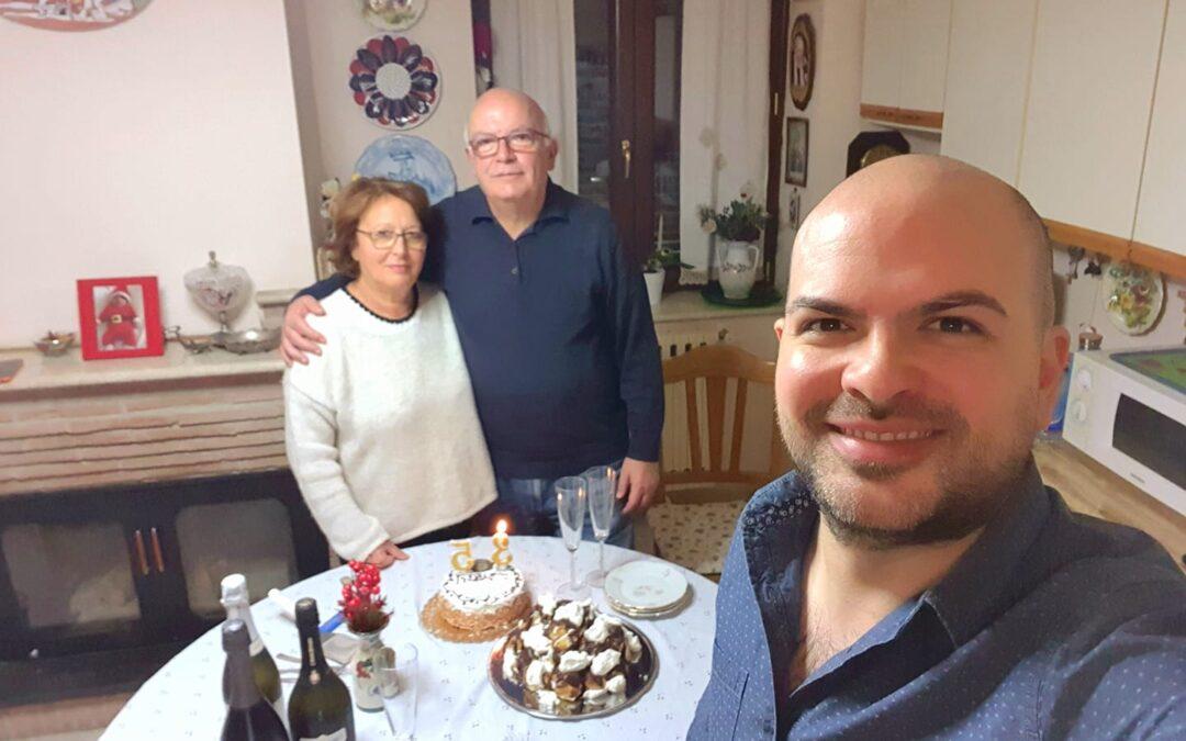 Auguri di cuore ai miei genitori per il loro 44° anniversario di matrimonio