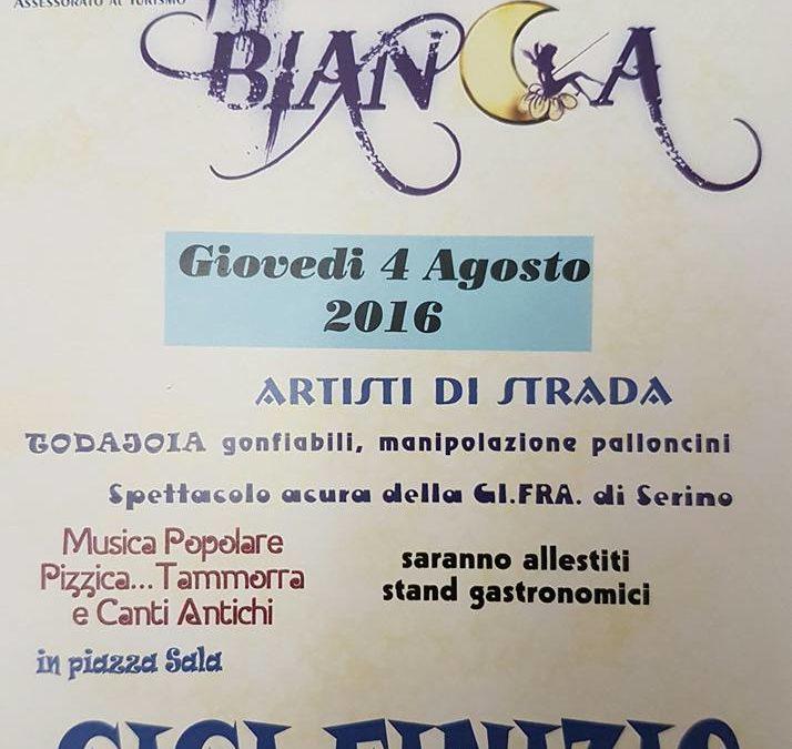 Giovedì 4 Agosto notte bianca, a Serino, con Gigi Finizio e tanto altro