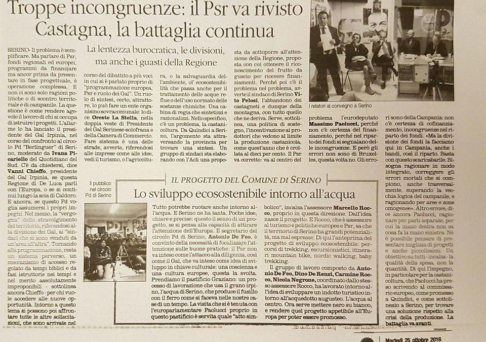 """Rassegna stampa """"Il Quotidiano Del Sud""""  20, 23 e 25 Ottobre 2016"""