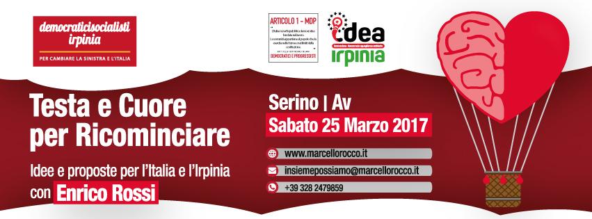 Posticipata la venuta di Enrico Rossi in Irpinia a sabato 25 Marzo