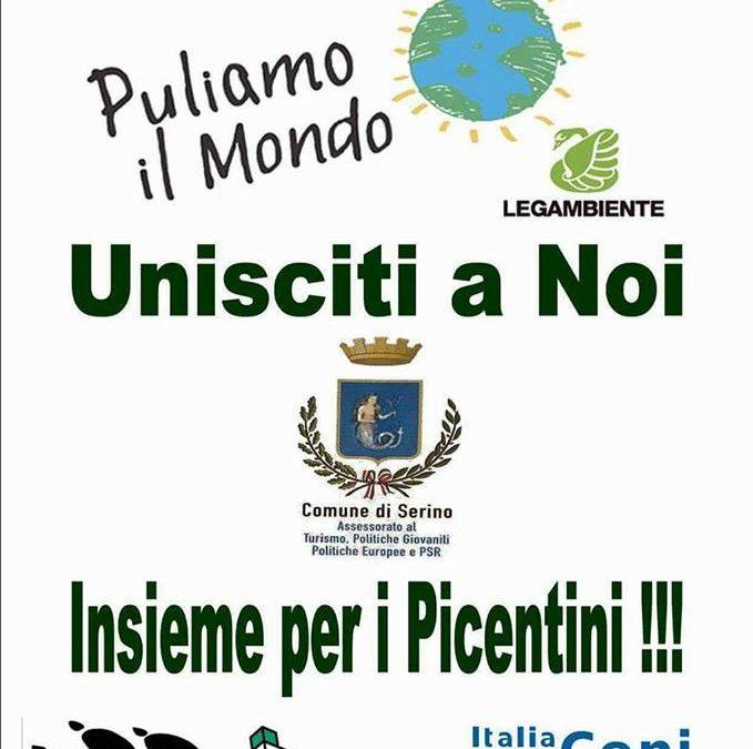 """Il Comune di Serino aderisce alla campagna di Legambiente """"Puliamo il Mondo"""". Si inizia con """"Insieme per i Picentini"""""""