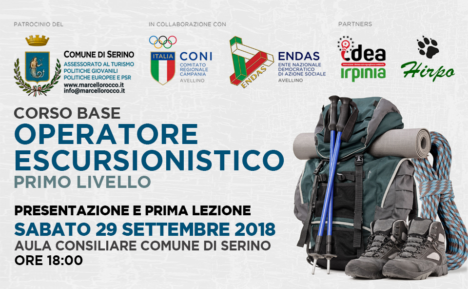 """A Serino, dopo il successo della 1° edizione, riprendono i corsi per """"Operatore Escursionistico ENDAS-CONI"""" – RASSEGNA STAMPA"""