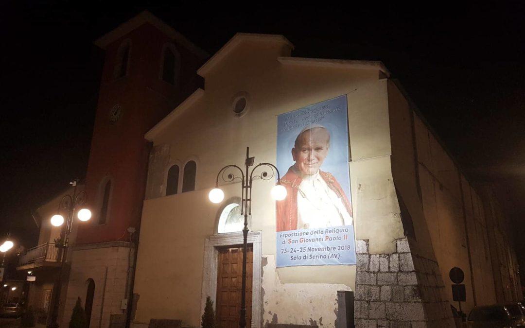 Da venerdì 23 a domenica 25 Novembre Serino ospiterà la Reliquia di San Giovanni Paolo II – FOTO & RASSEGNA STAMPA