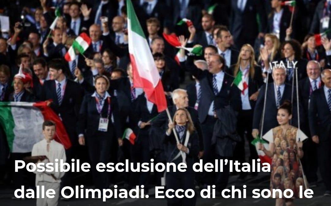 Possibile esclusione dell'Italia dalle Olimpiadi. Ecco di chi sono le responsabilità – ARTICOLO realizzato per stylise.it
