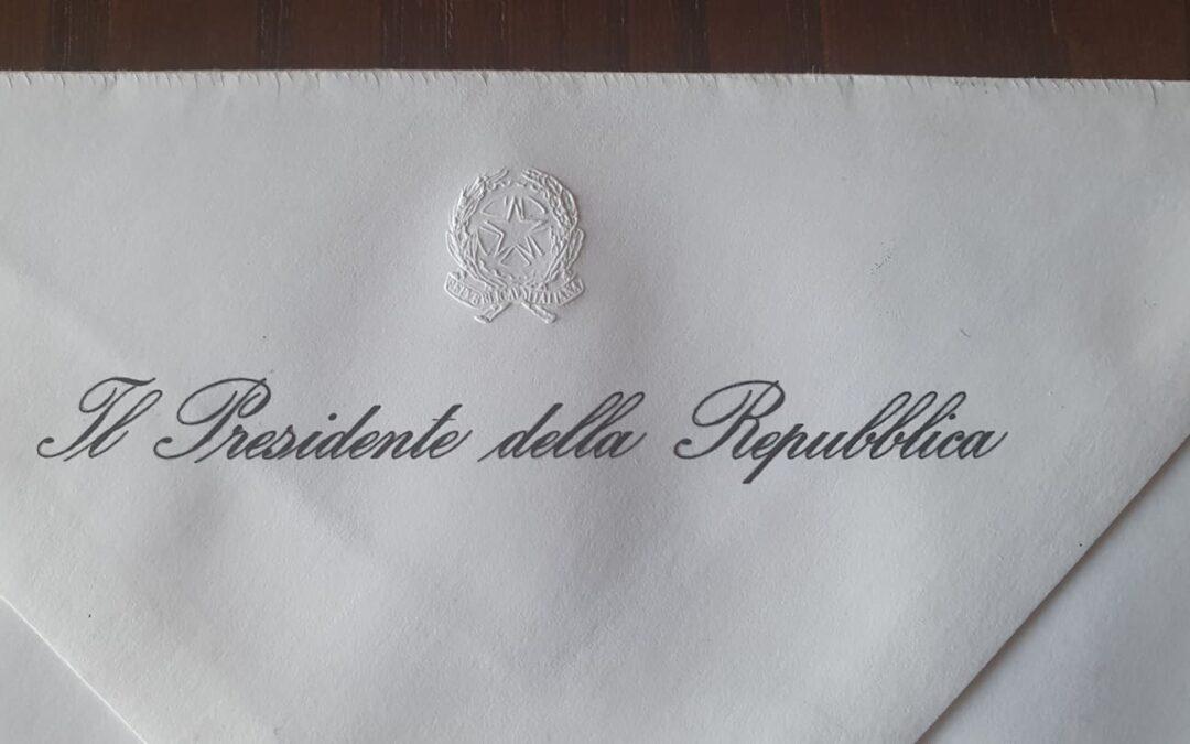 Oggi ho ricevuto un messaggio dal Presidente della Repubblica Sergio Mattarella – APPROFONDIMENTO